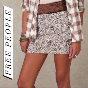 Free People Paisley Knit Bodycon Mini Skirt